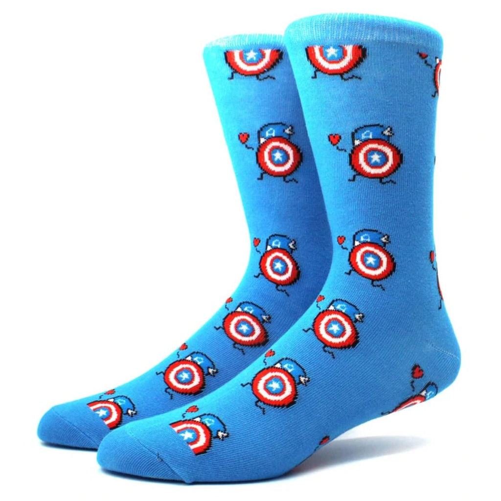 Mighty Mite Captain America Crew Socks - Action Pro Sports