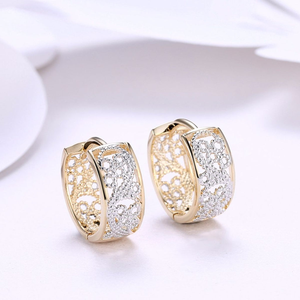 Gold & Silver Cuff Earrings - Action Pro Sports