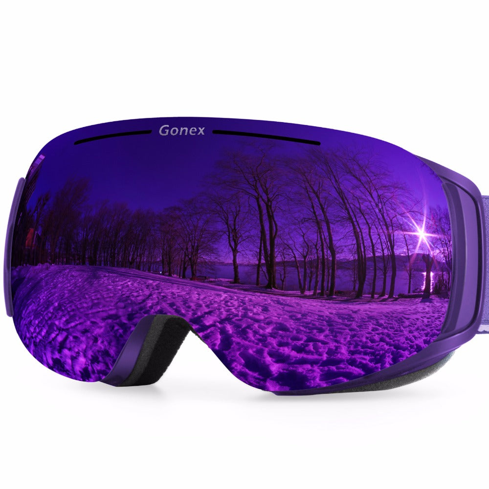 Wintersport Goggles - Magnetic Quick Change Wide View Dual Lens Ski Goggles - Action Pro Sports
