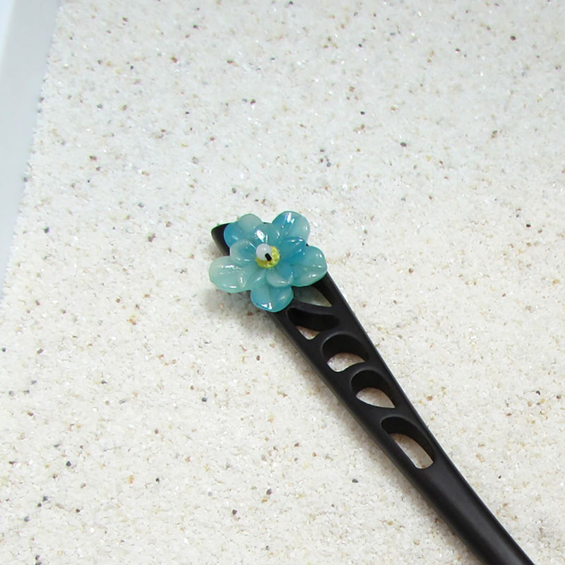 Japanese Stick Style Flower Wood Hair Pins - Action Pro Sports