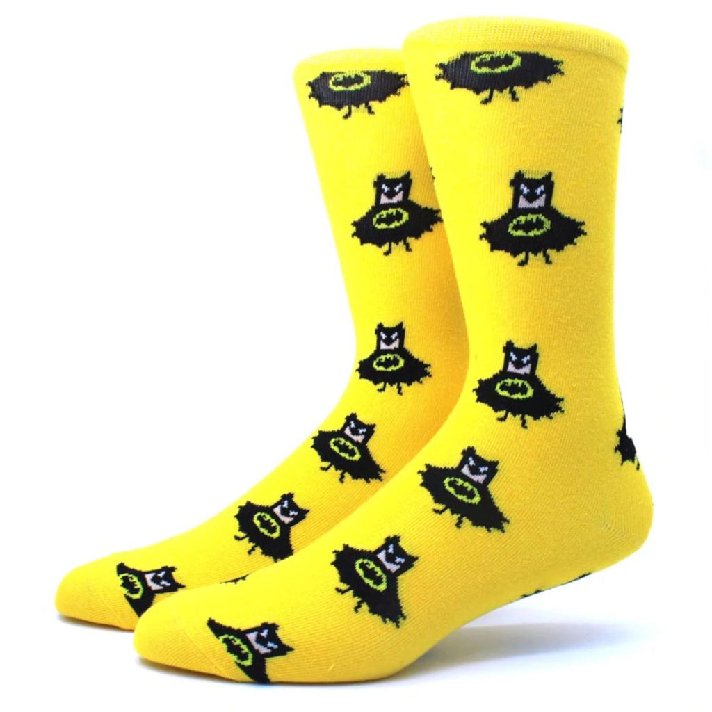 Sneaky Bat Man Crew Socks - Action Pro Sports