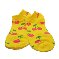 Yellow Cherry Ankle Socks - Action Pro Sports