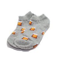 Grey Beer Mug Ankle Socks