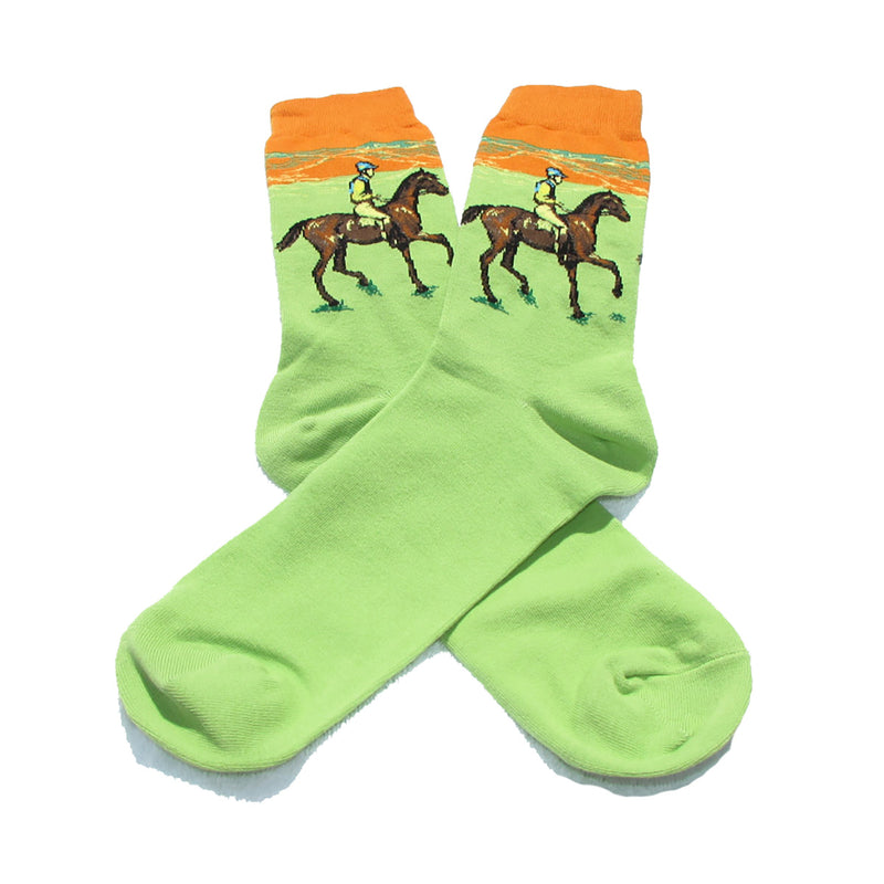 Green Equestrian Crew Socks - Action Pro Sports