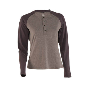 Ida Women's Sun Shirt - Grey/Black