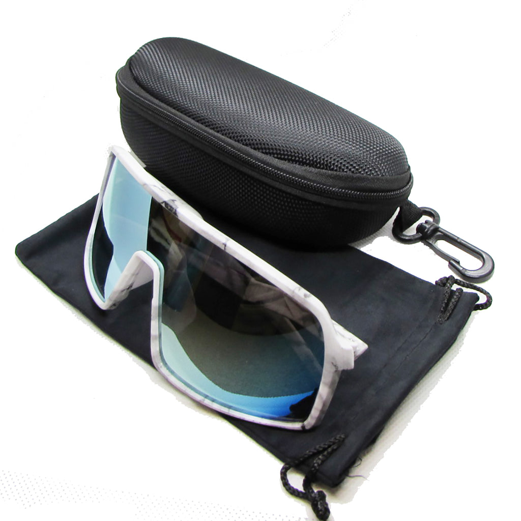 Large Profile Sport Sunglasses - White Camo