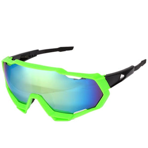 Large Profile Sport Sunglasses - Green/Black | Action Pro Sports