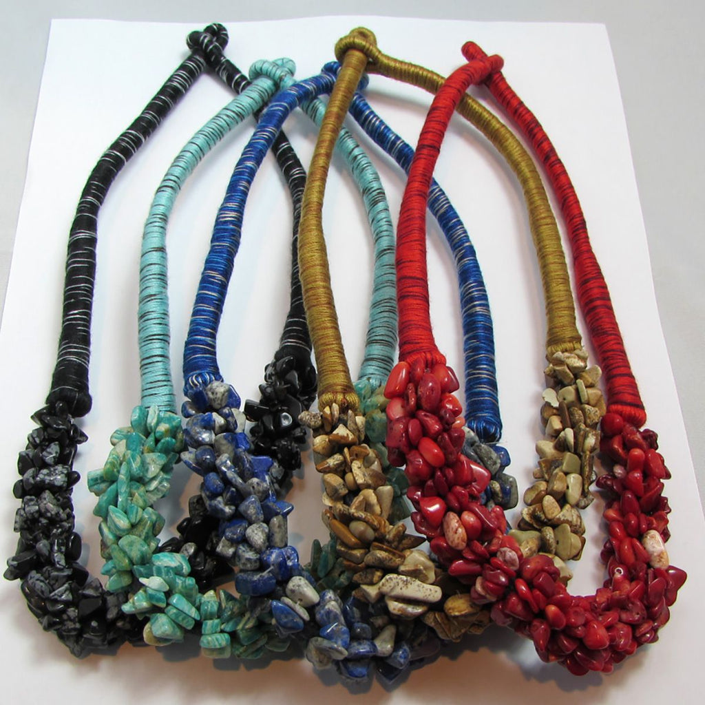 Stone Cluster Necklaces