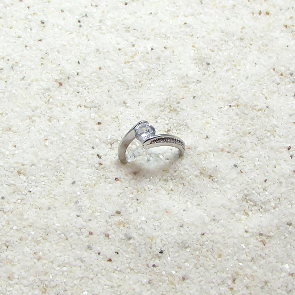 Detailed Silver & Diamond Engagement Rings