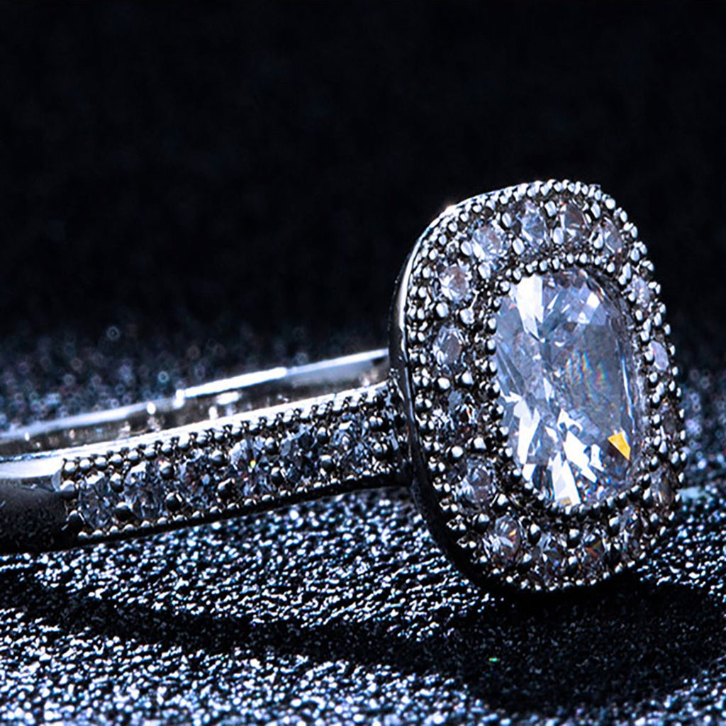 Diamond Encrusted Engagement Rings