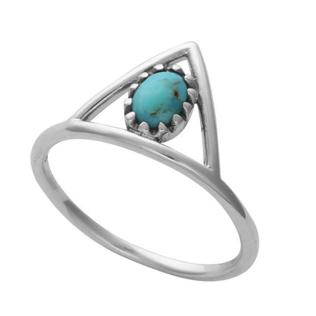 Eternal Triangle Turquoise Rings
