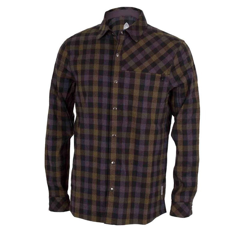 Shaka Flannel Men's Shirt - Black Olive | Action Pro Sports