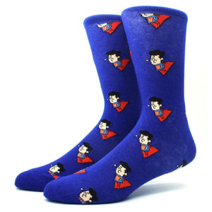 Super Duper Superman Crew Socks - Action Pro Sports