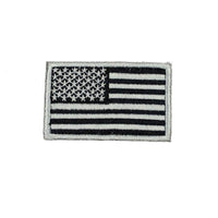 US Flag Velcro Patch - Black/Silver