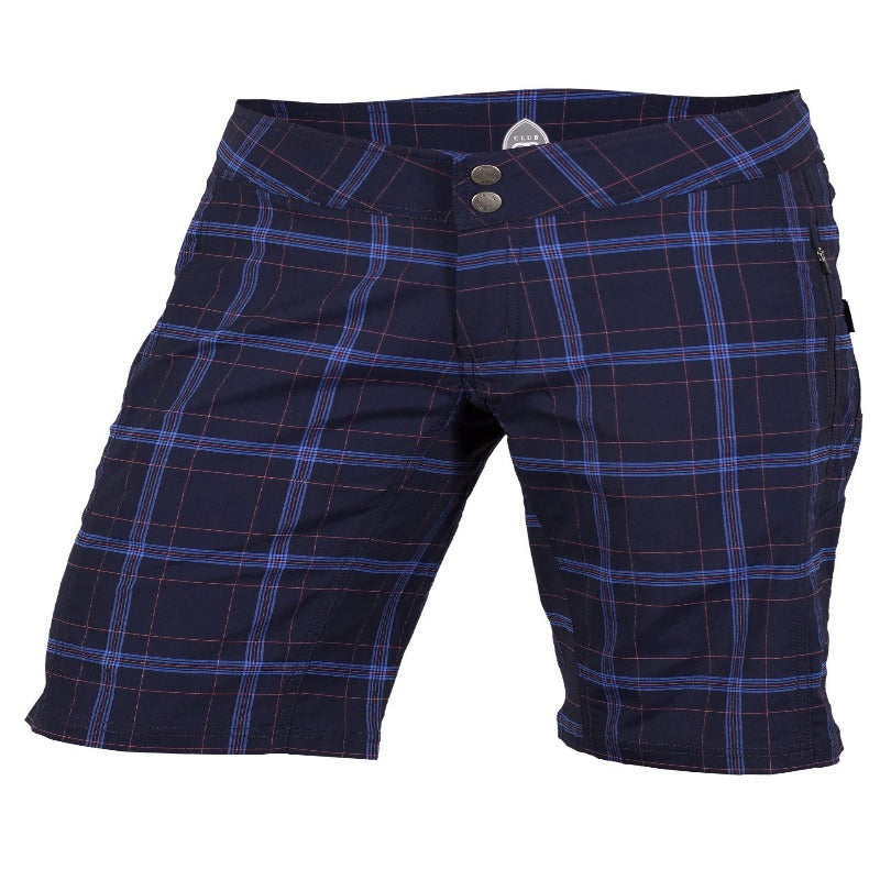 Ventura Women's Short - Navy Plaid | Action Pro Sports