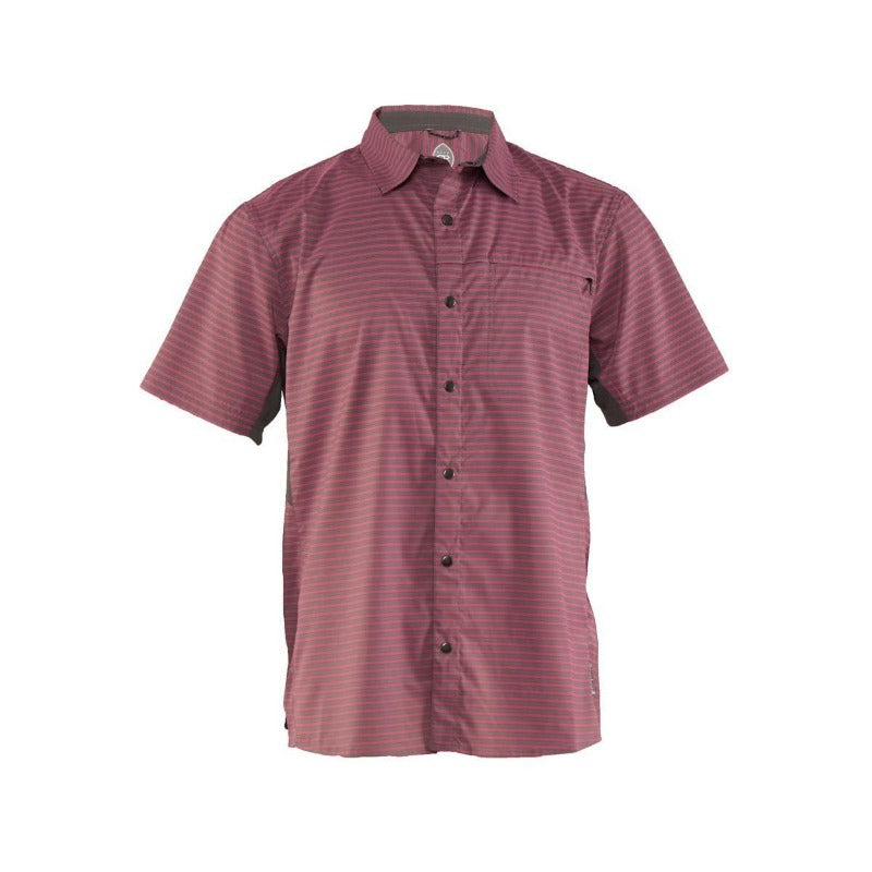 Vibe Men's Shirt - Merlot Stripe | Action Pro Sports