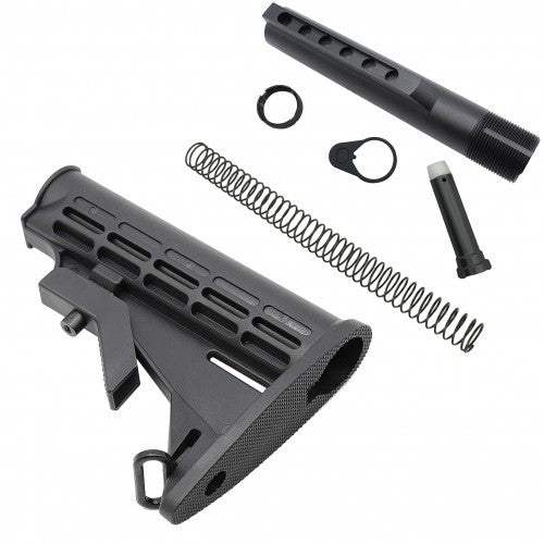 Collapsible Carbine Stock With 6 Position Buffer Tube