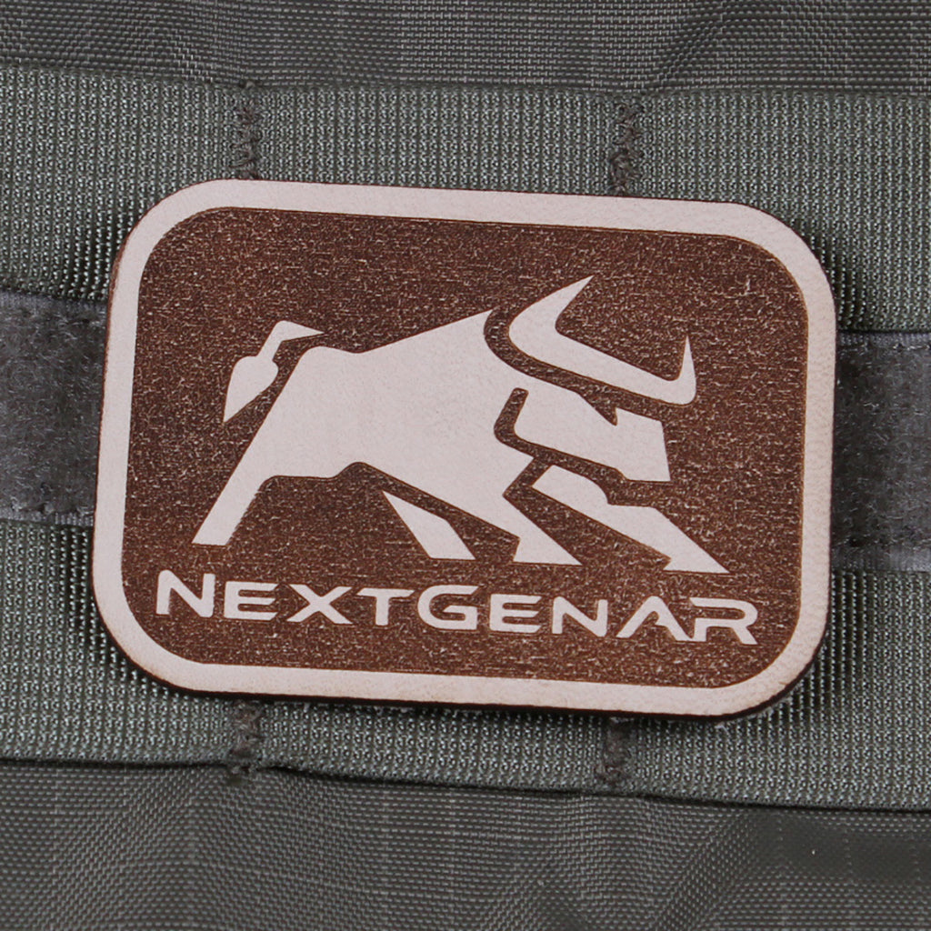 NextGenAR Bull Logo Velcro Patch - Brown | Action Pro Sports