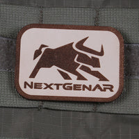 NextGenAR Bull Logo Velcro Patch - Tan | Action Pro Sports