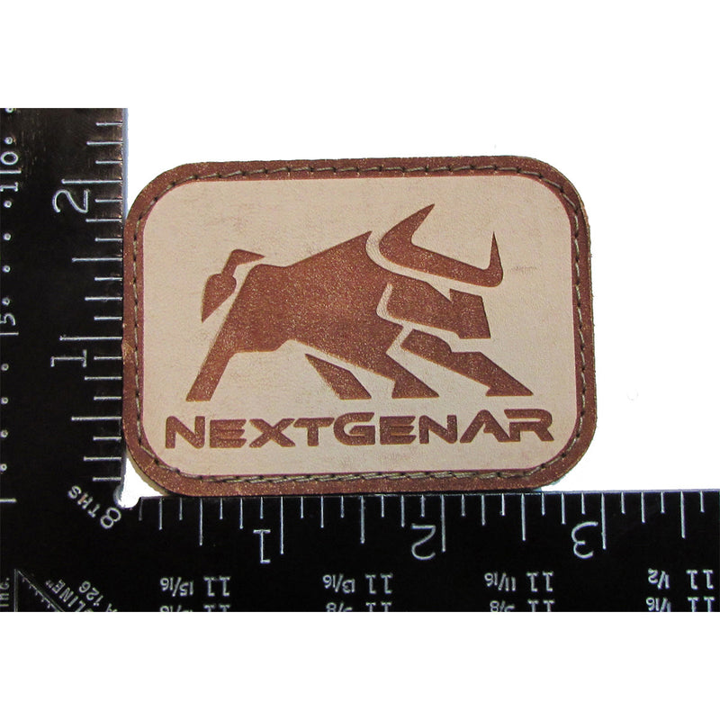 Bull Logo Velcro Leather Patch - Action Pro Sports