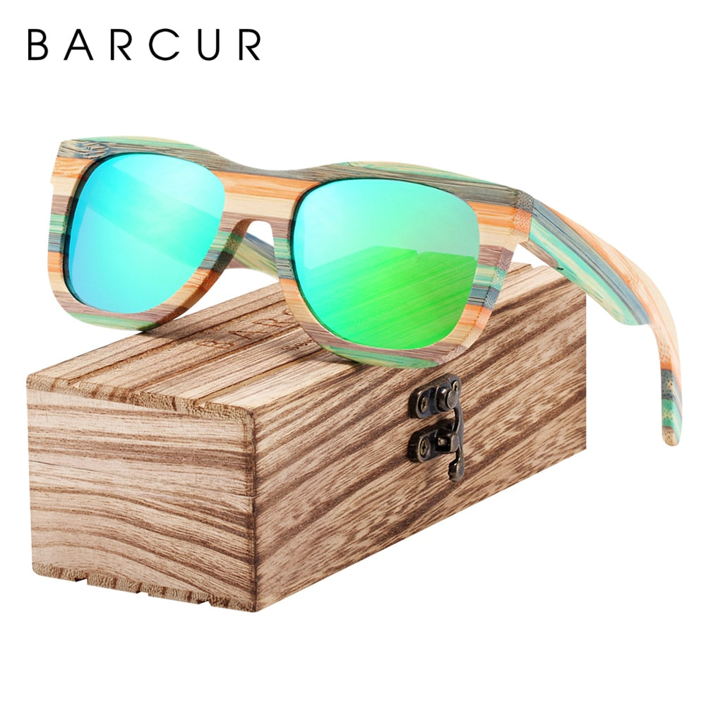 Gradient Bamboo Polarized Sunglasses - Action Pro Sports