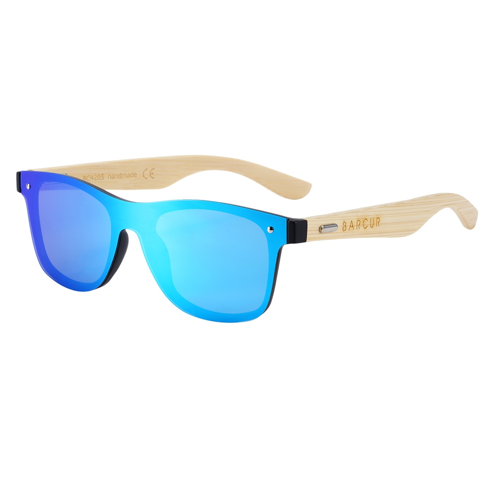 Bamboo Wood Rimless Sunglasses