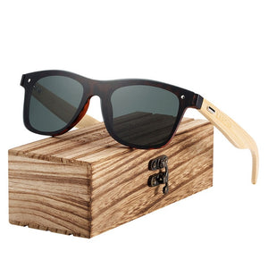 Bamboo Wood Frame Sunglasses - Action Pro Sports