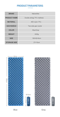 Global Brands - Sleeping Pads & Pillows - Camping Pad (NH19QD009) - Action Pro Sports