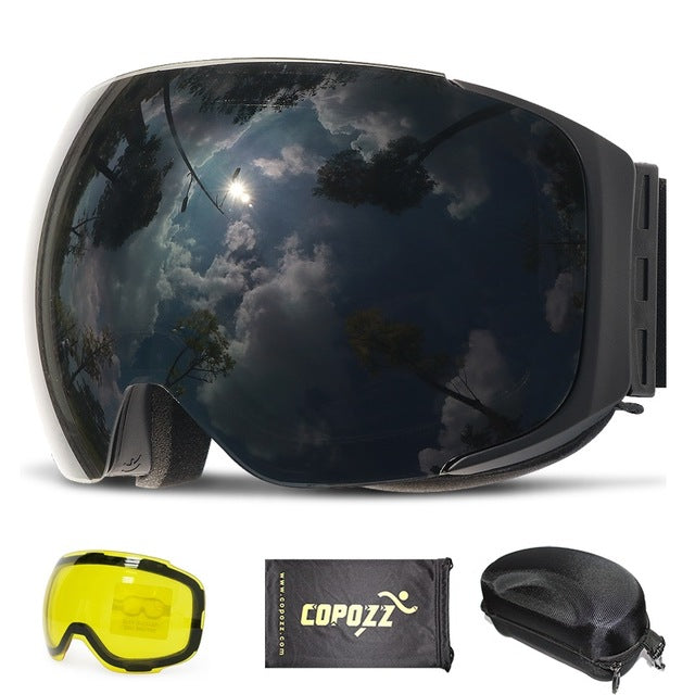 Wintesport Goggles - Magnetic Quick Change Parabolic Dual Lens Ski Goggles - Action Pro Sports