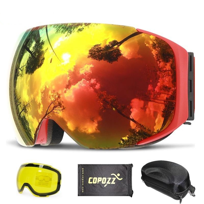 2 in 1 Magnetic Dual-Lens Ski Goggles