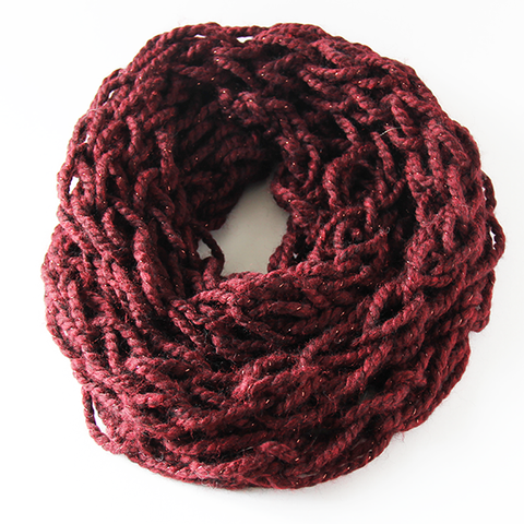 Cabernet Infinity Scarf