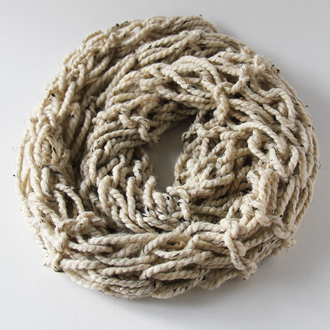Rustic Oatmeal Infinity Scarf