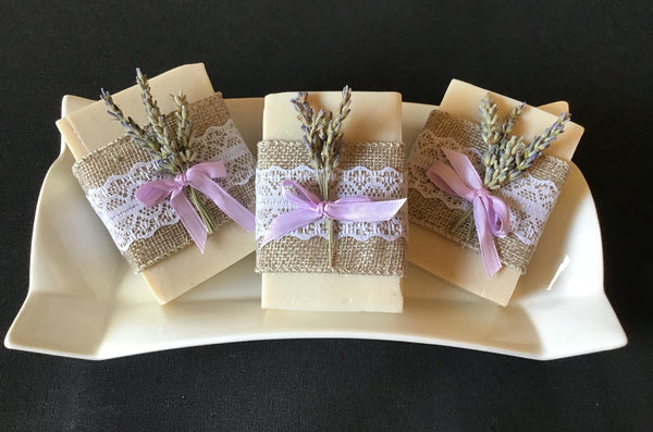 Lavender Soap With Burlap Lace (Custom Order)