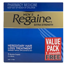 Regaine men extra strength solution 5% 60ml 4 month supply