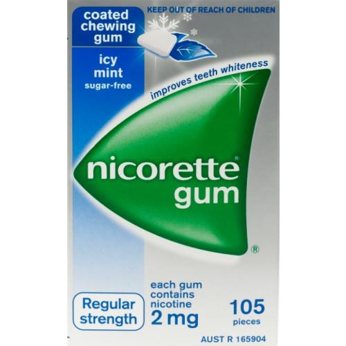 Nicorette Nicotine Gum 2mg Icy Mint (105 Pieces)