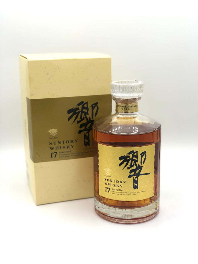 Suntory Hibiki 17 Year Old 2001 1st Edition Gold Label with Box