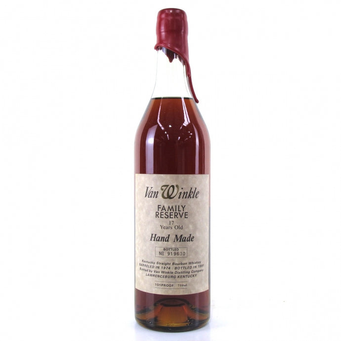 Van Winkle 1974 Family Reserve 17 Year Old Red Wax