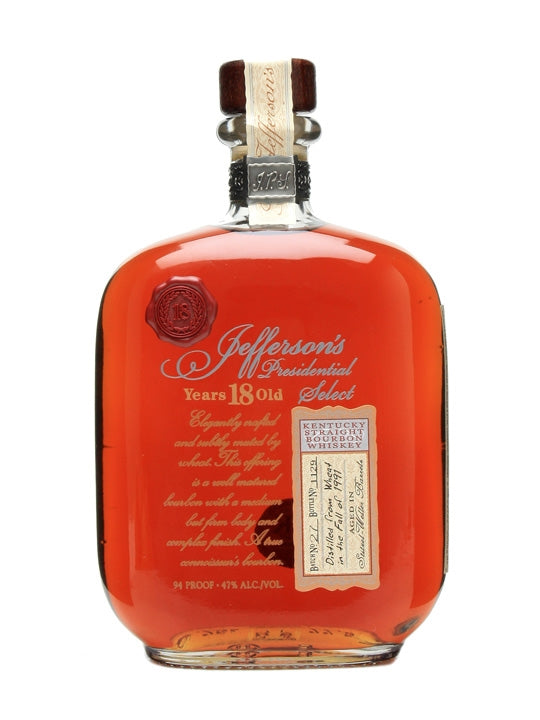 Jefferson's Presidential Select 18 Year Stitzel Weller - 750ml