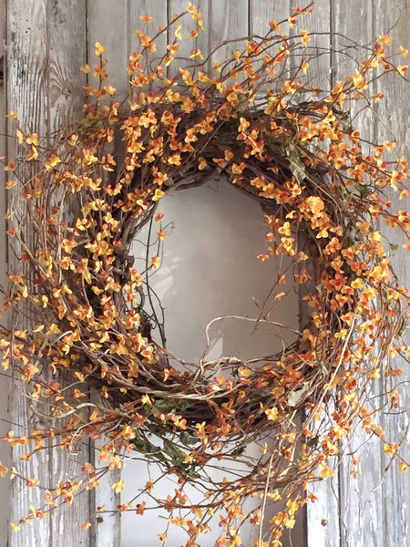 Fall Bittersweet Door Wreath, Autumn Wreath, Front Door Decor, Fall Decor - Ash & Hart Floral