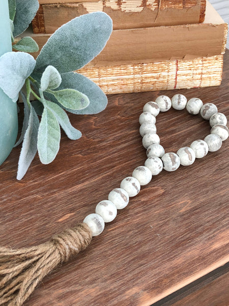 White Chippy Demijohn Jar Beads, Farmhouse Beads - Ash & Hart Floral