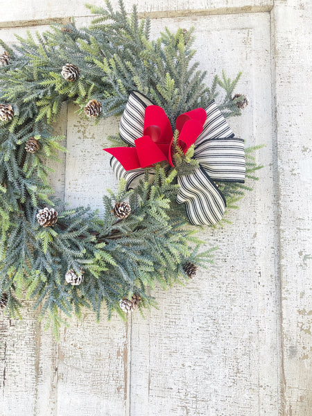 Pine Christmas Wreath, Farmhouse Christmas, Icy PIne - Ash & Hart Floral