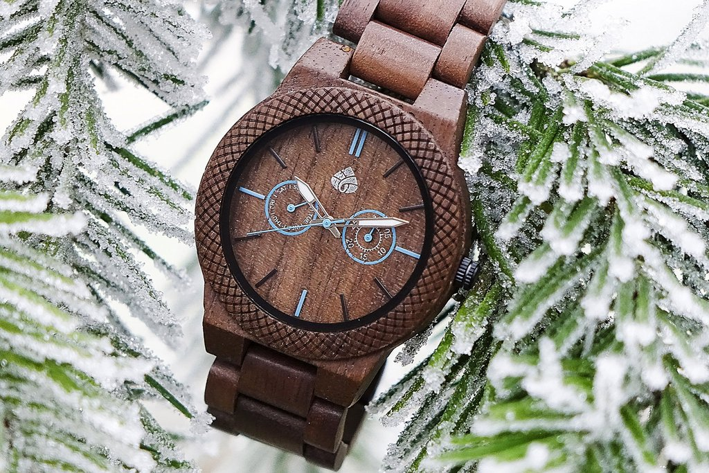 Leafwood Wood Watch Hiker gift for Christmas