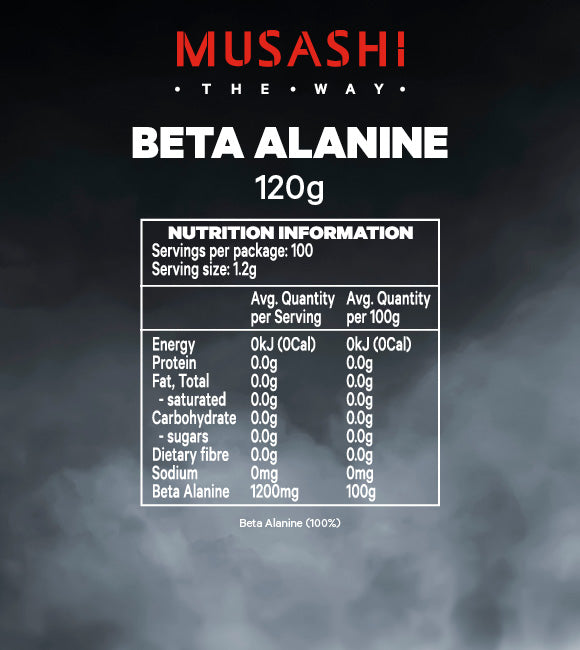 Musashi Beta Alanine 120G - Super Nutrition