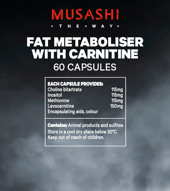 Musashi Fat Metaboliser with Carnitine 60 Capsules - Super Nutrition