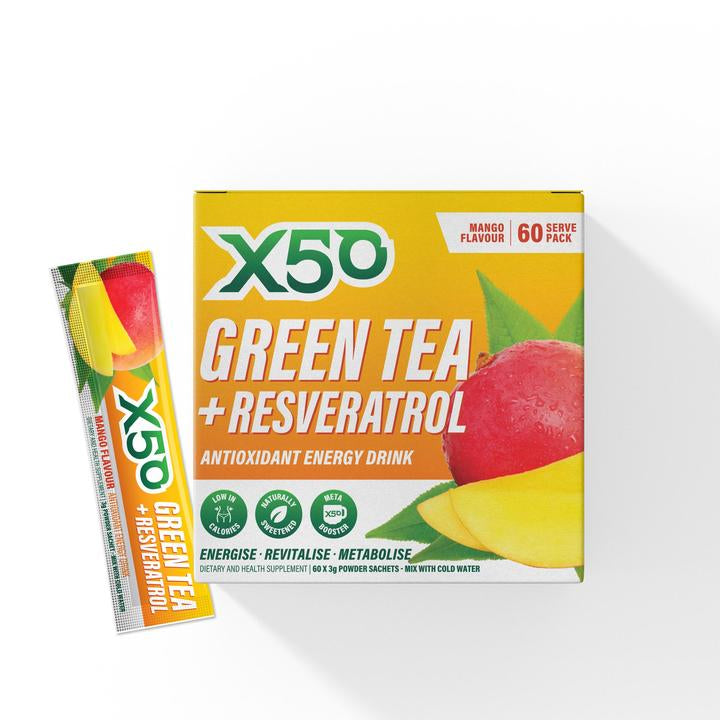 GREEN TEA + RESVERATROL X50 (60 Serves) - Super Nutrition