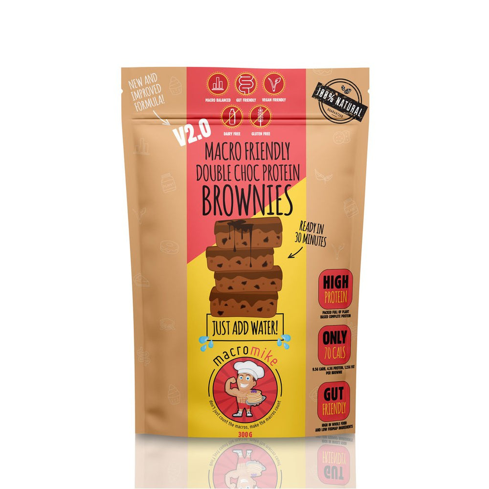 Macro Mike V2 Double Choc Fudge Brownie Mix (300g Bag) - Super Nutrition