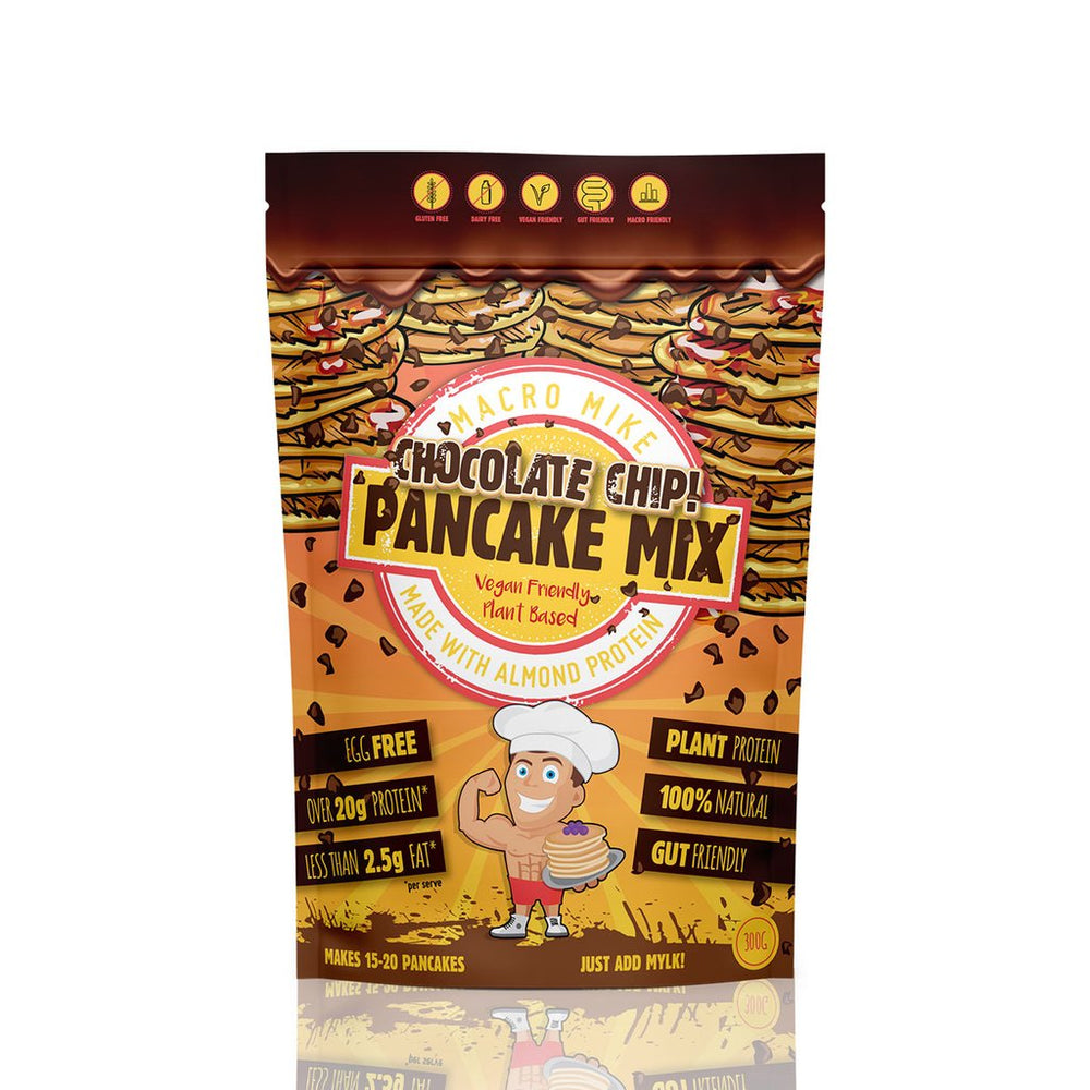 Macro Mike Almond Protein Choc Chip Pancake Baking Mix 300g - Super Nutrition
