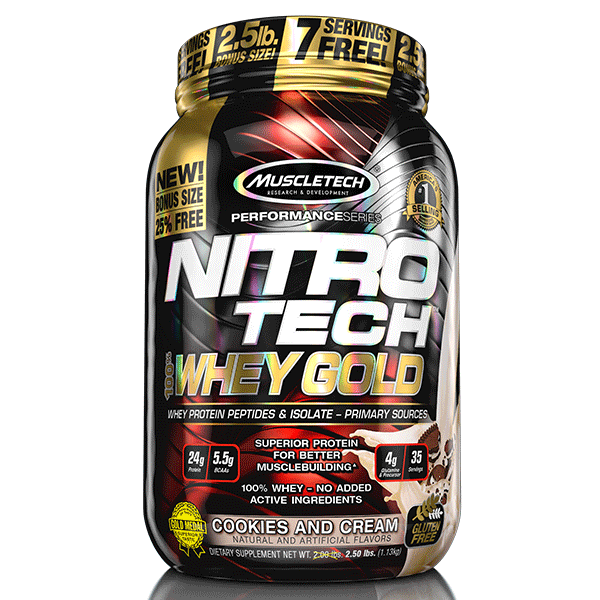 MuscleTech Nitro Tech 100% Whey Gold - Super Nutrition