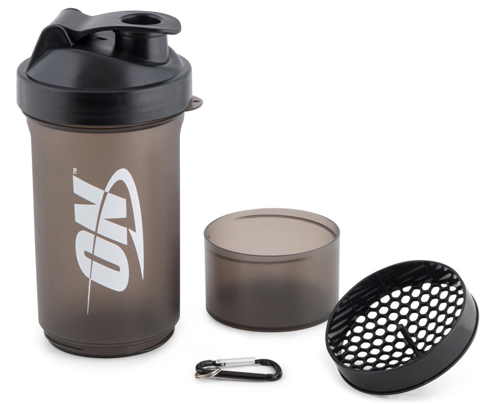 Optimum Nutrition 2 Part Shaker (Black) - Super Nutrition