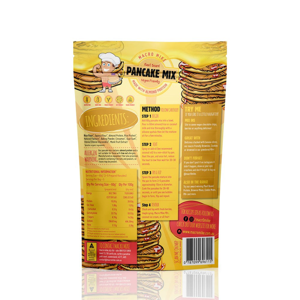 Macro Mike Almond Protein Pancake Baking Mix 300g - Super Nutrition
